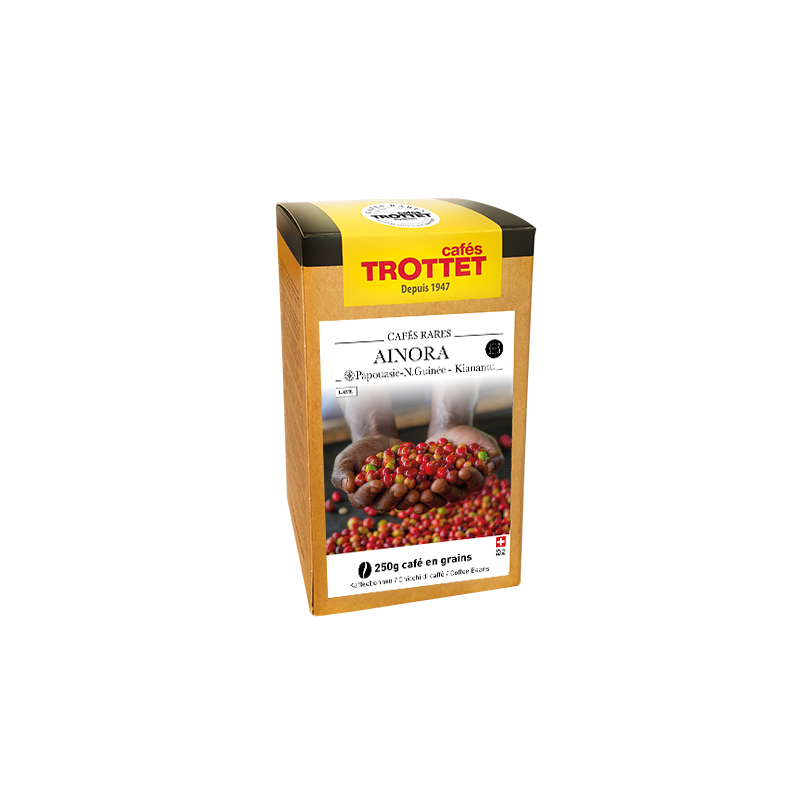 Cafés Trottet Coffeebeans from Papua New Guinea Ainora Washed 250G Cafés Trottet