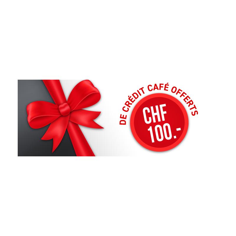 CHF100.- CAFÉ DISPONIBLE À LA RÉCEPTION DE VOTRE MACHINE !