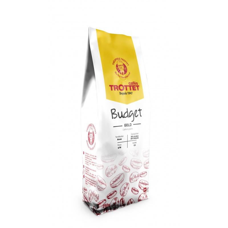 Cafés Trottet Budget GOLD Café En grains 250G