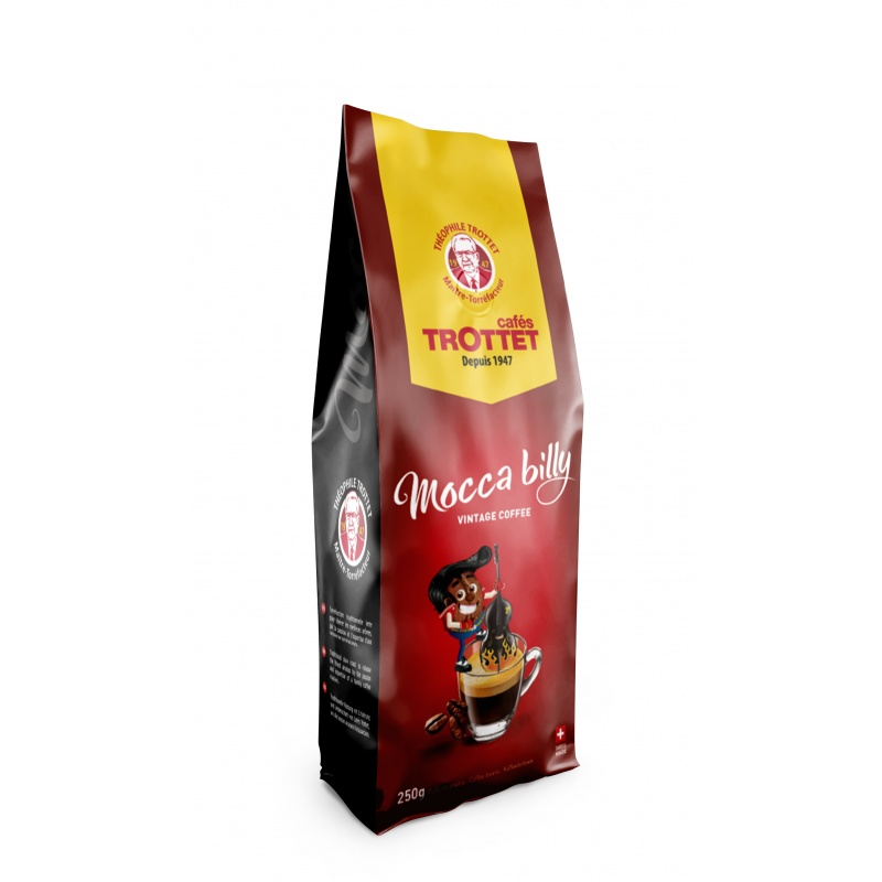 Cafés Trottet Moccabilly 250G Coffeebeans