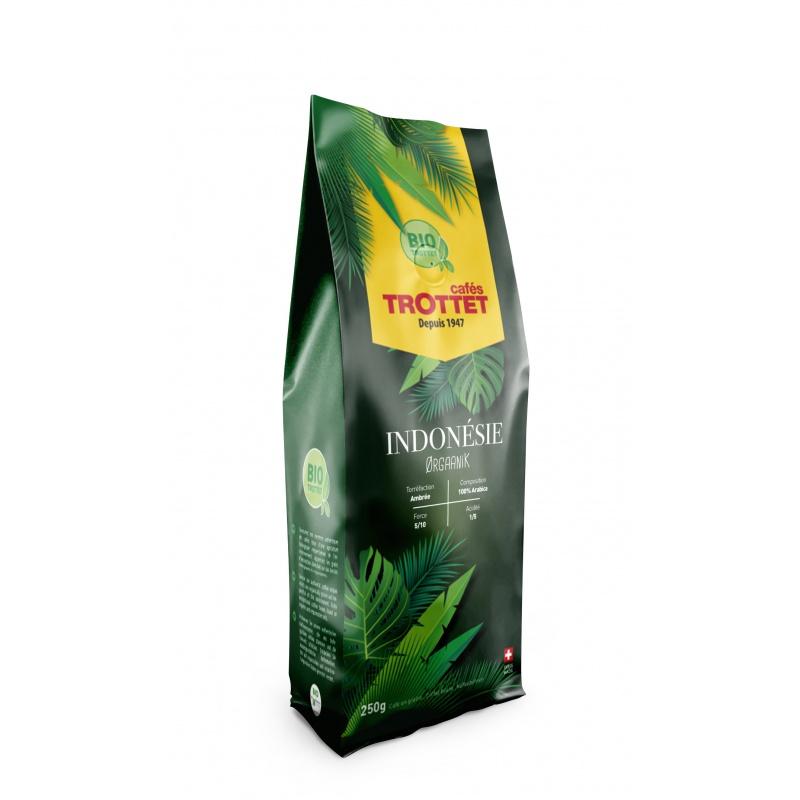 Cafés Trottet Indonesia Bio Orgaanik Coffeebeans 250G Cafés Trottet