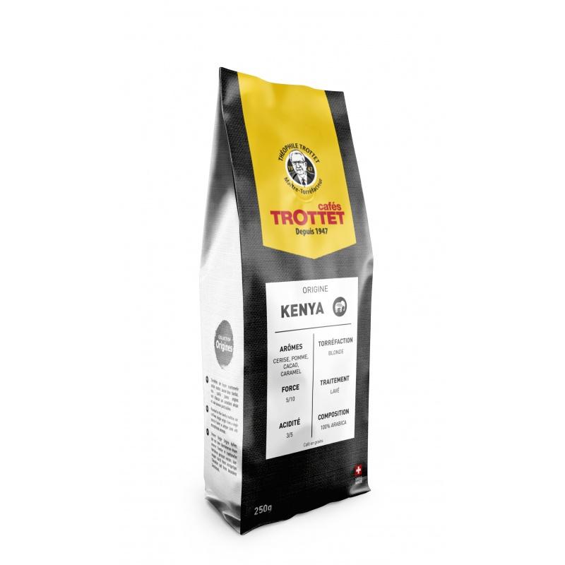 Cafés Trottet Kenya Torréfaction Claire 250G Grains