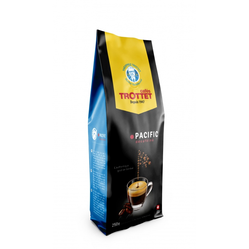 Decaffeinated Coffeebeans Pacific 250G Cafés Trottet
