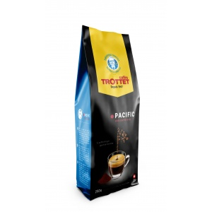 250 gr Café en grain moulu Pacific Déca Cafés Trottet