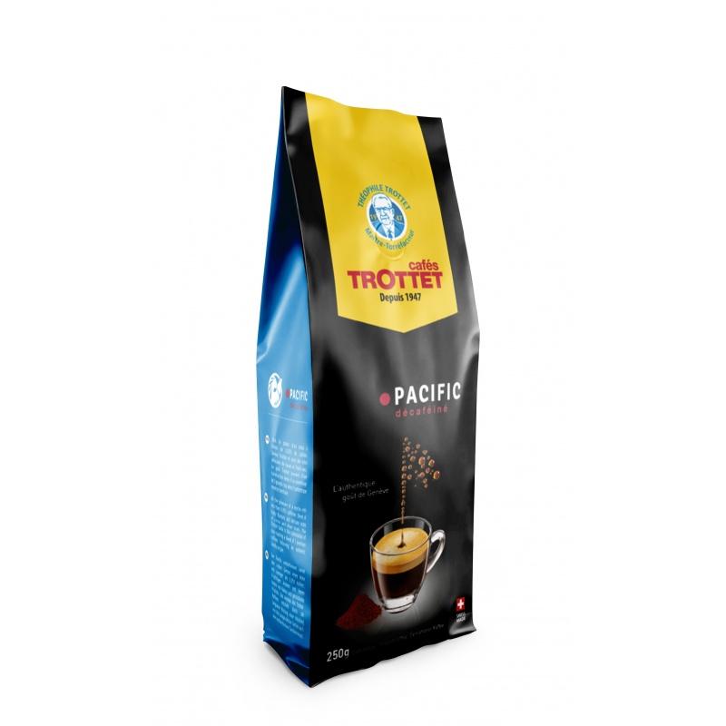 Cafés Trottet Pacific Gemahlener Koffeinfreier Kaffee 250G