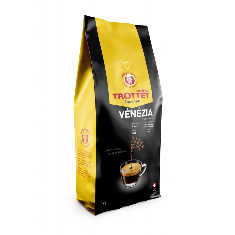 Venezia gemahlener Kaffee 1KG Cafés Trottet