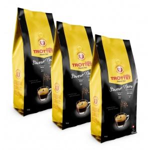 1 kg Café en grain Saveur Noire Cafés Trottet