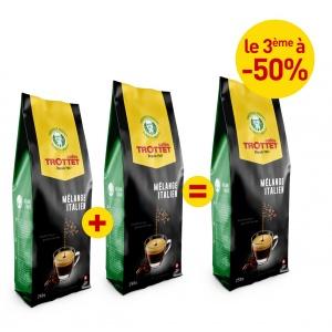 2x250G Mélange Italien achetés, 3e à 50%