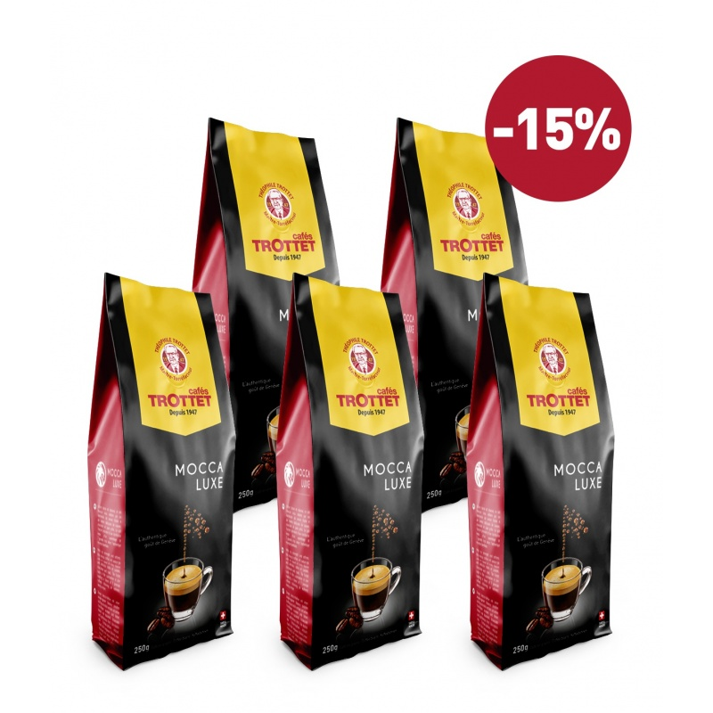 Coffeebeans Mocca luxe 5x250G Pack