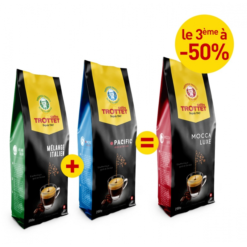 2 Blends bought, Mocca to 50%