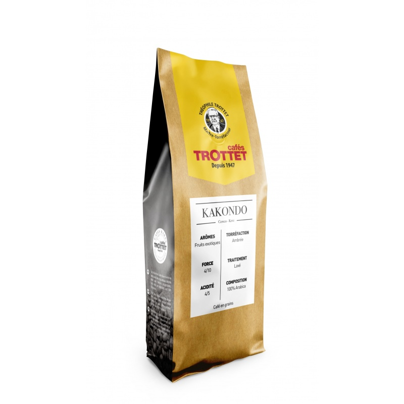 Cafés Trottet Kakondo Rd Congo 250Gr Grains