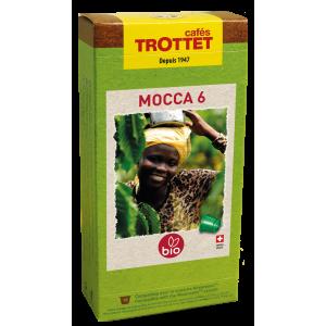 10 Capsules Mocca 6 Bio Compatibles Nespresso® Cafés Trottet