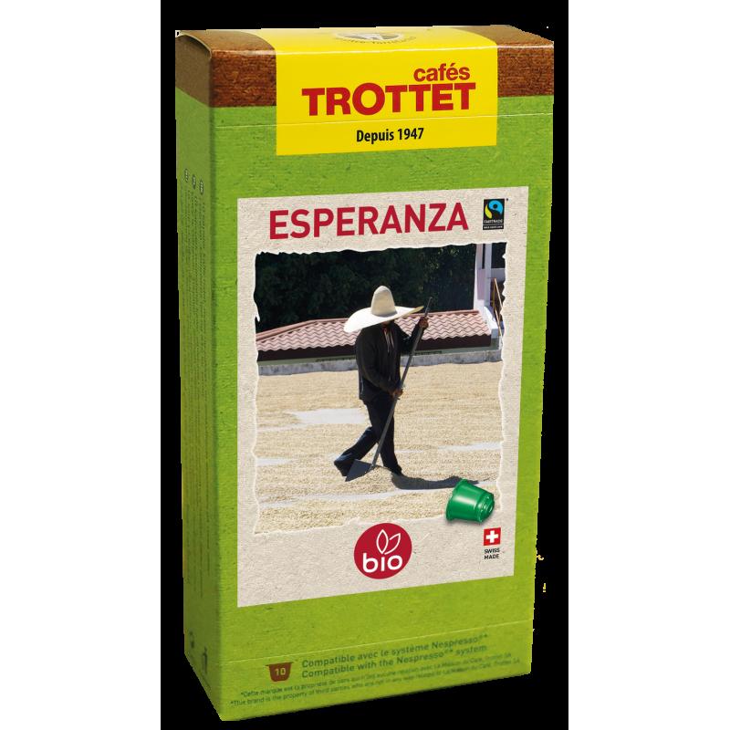 Cafés Trottet Capsules Esperanza Bio 10S