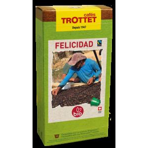10 Capsules Felicidad Bio Compatibles Nespresso® Cafés Trottet