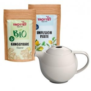 Ingwer-Maté-Aufguss + Teekanne
