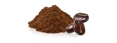 Coffeebeans and grounded coffee
